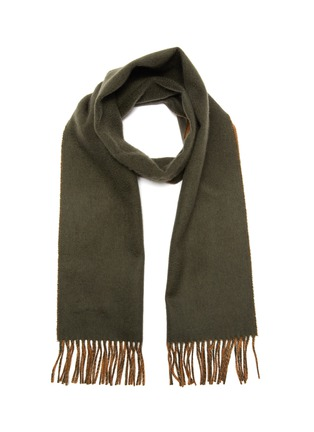 Main View - Click To Enlarge - JOHNSTONS OF ELGIN - Reversible fringed cashmere scarf