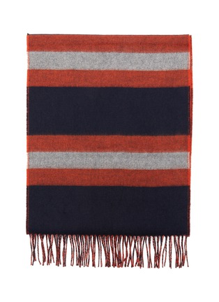 Detail View - Click To Enlarge - JOHNSTONS OF ELGIN - Stripe cashmere wool scarf