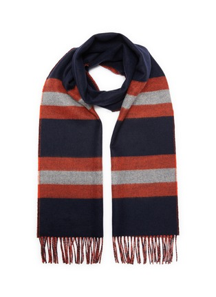 Main View - Click To Enlarge - JOHNSTONS OF ELGIN - Stripe cashmere wool scarf