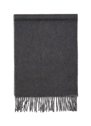 Detail View - Click To Enlarge - JOHNSTONS OF ELGIN - Contrast reversible cashmere scarf