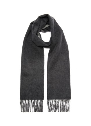 Main View - Click To Enlarge - JOHNSTONS OF ELGIN - Contrast reversible cashmere scarf