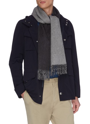 Figure View - Click To Enlarge - JOHNSTONS OF ELGIN - Contrast reversible cashmere scarf
