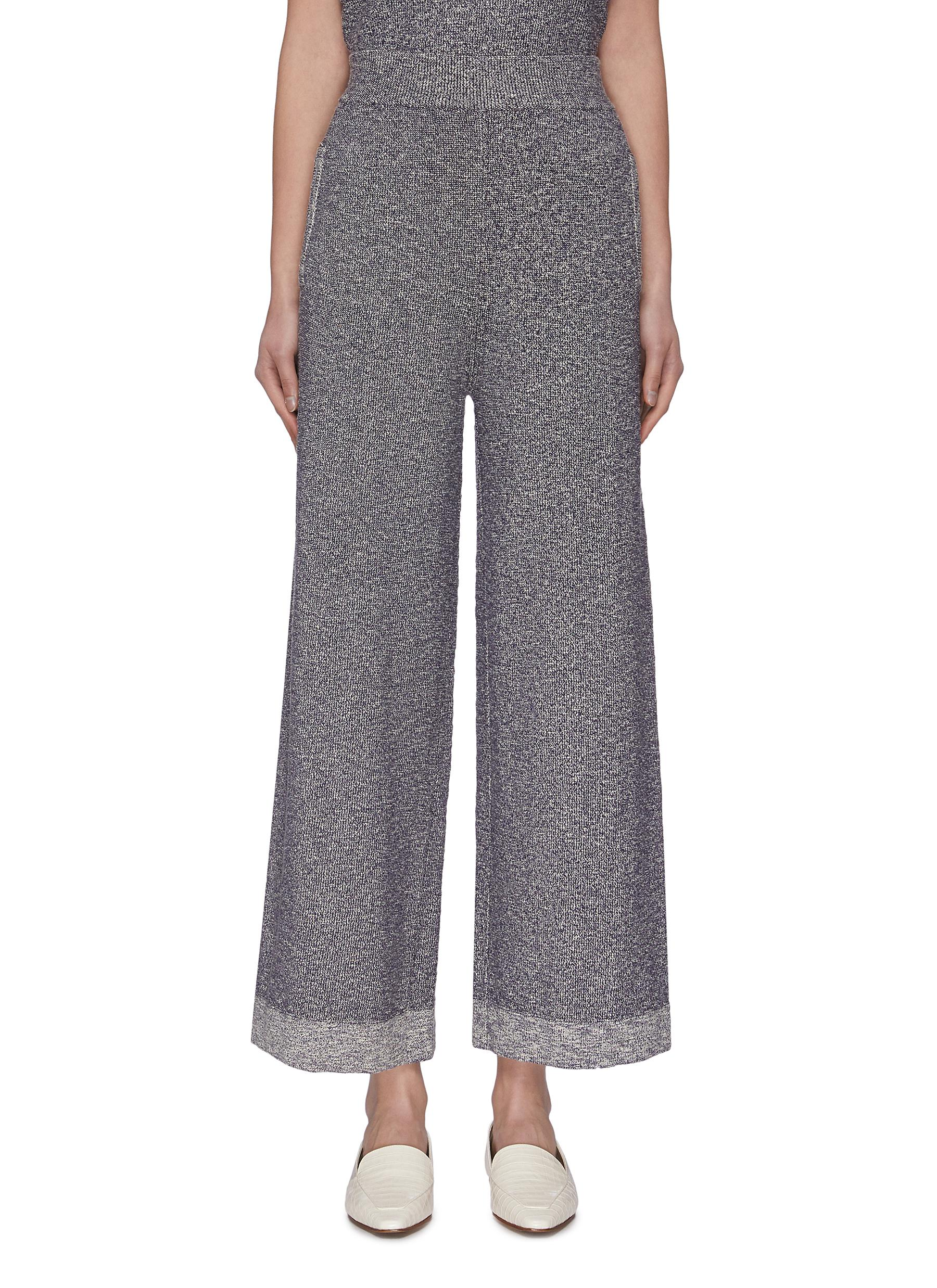 shop Crush Collection Melange Wide Leg Knit Pants online