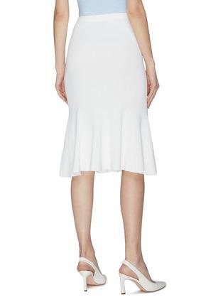 Back View - Click To Enlarge - CRUSH COLLECTION - Flare ruffle hem rib knit midi skirt