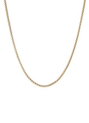 Main View - Click To Enlarge - DAVID YURMAN - Box chain 18k yellow gold necklace