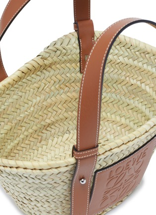 Detail View - Click To Enlarge - LOEWE - 'Basket' leather panel woven bag