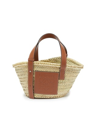 Main View - Click To Enlarge - LOEWE - 'Basket' leather panel woven bag