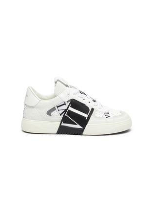 Main View - Click To Enlarge - VALENTINO - Valentino Garavani logo embossed contrast stripe sneakers