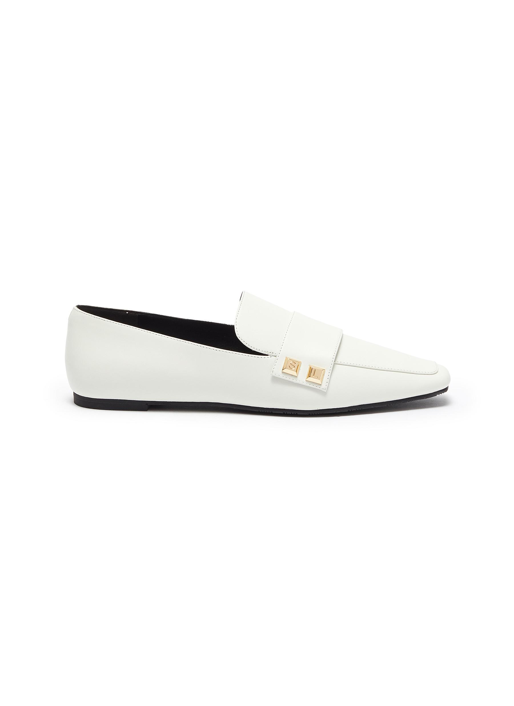 Stella Luna Flats Stud embellished loafers