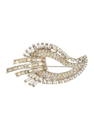 Main View - Click To Enlarge - LANE CRAWFORD VINTAGE ACCESSORIES - Diamanté panelled teardrop brooch