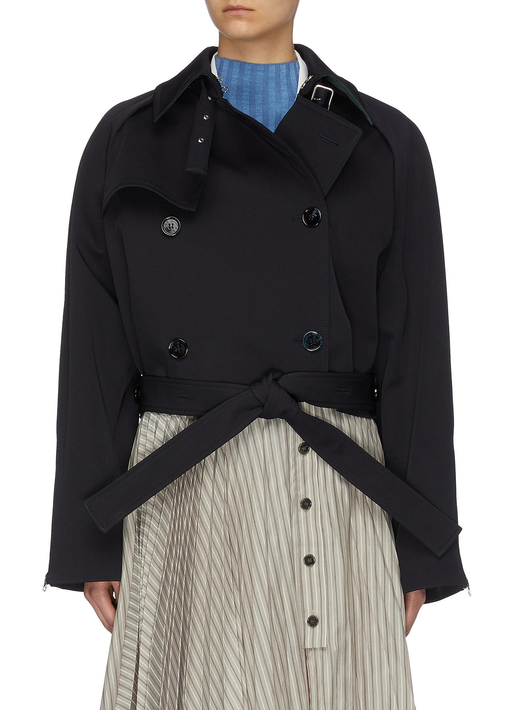 Buy Acne Studios Jackets Cropped Trench Coat