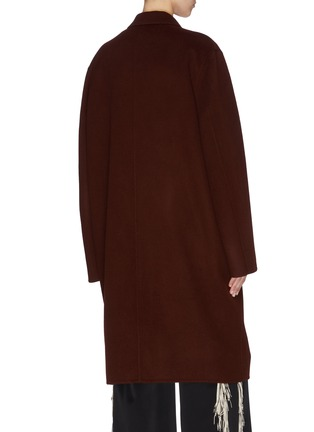 Back View - Click To Enlarge - ACNE STUDIOS - Notch lapel wool coat