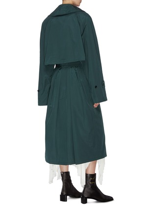 Back View - Click To Enlarge - ACNE STUDIOS - Notch lapel belted trench coat