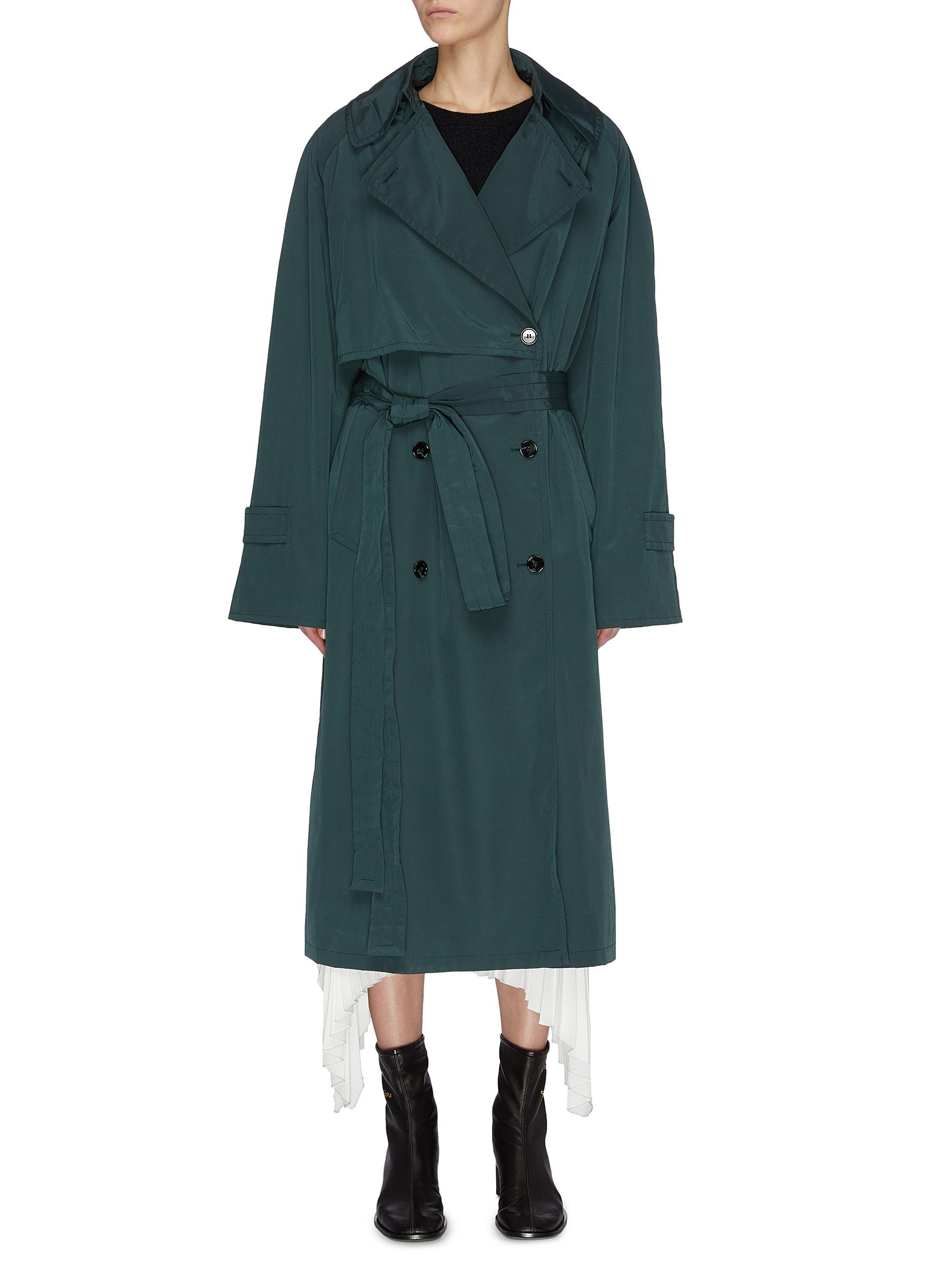 shop Acne Studios Notch lapel belted trench coat online