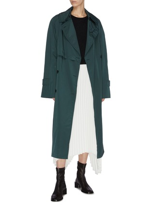 Figure View - Click To Enlarge - ACNE STUDIOS - Notch lapel belted trench coat