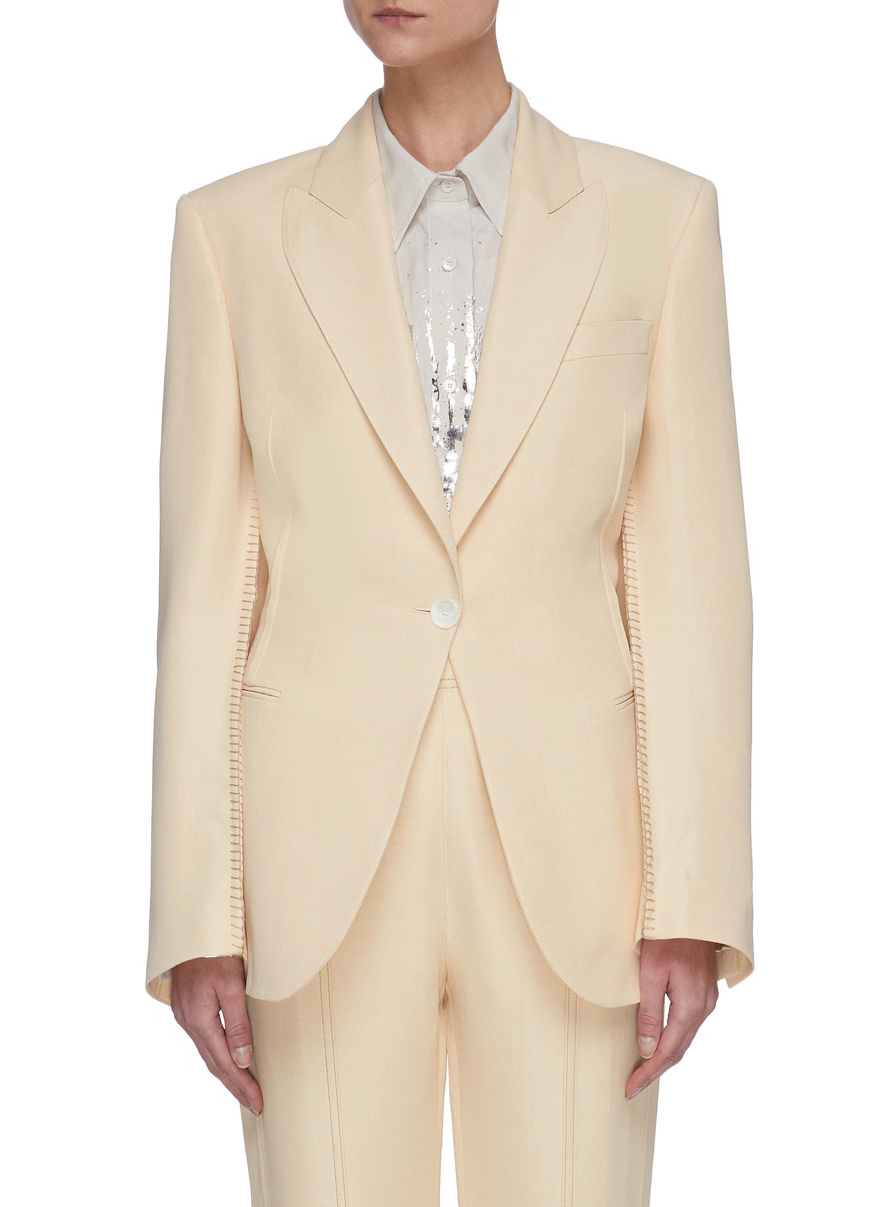 Buy Acne Studios Blazers Blanket stitch suit jacket