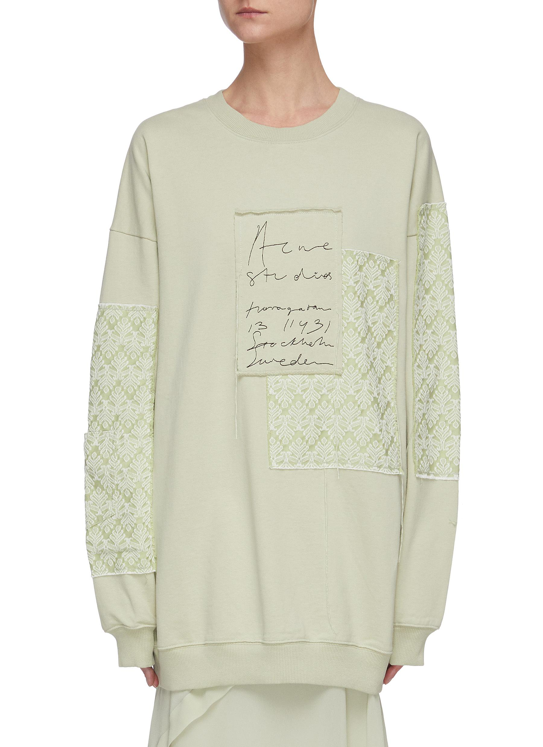 shop Acne Studios Jacquard-patches handwritten logo embroidered sweatshirt online