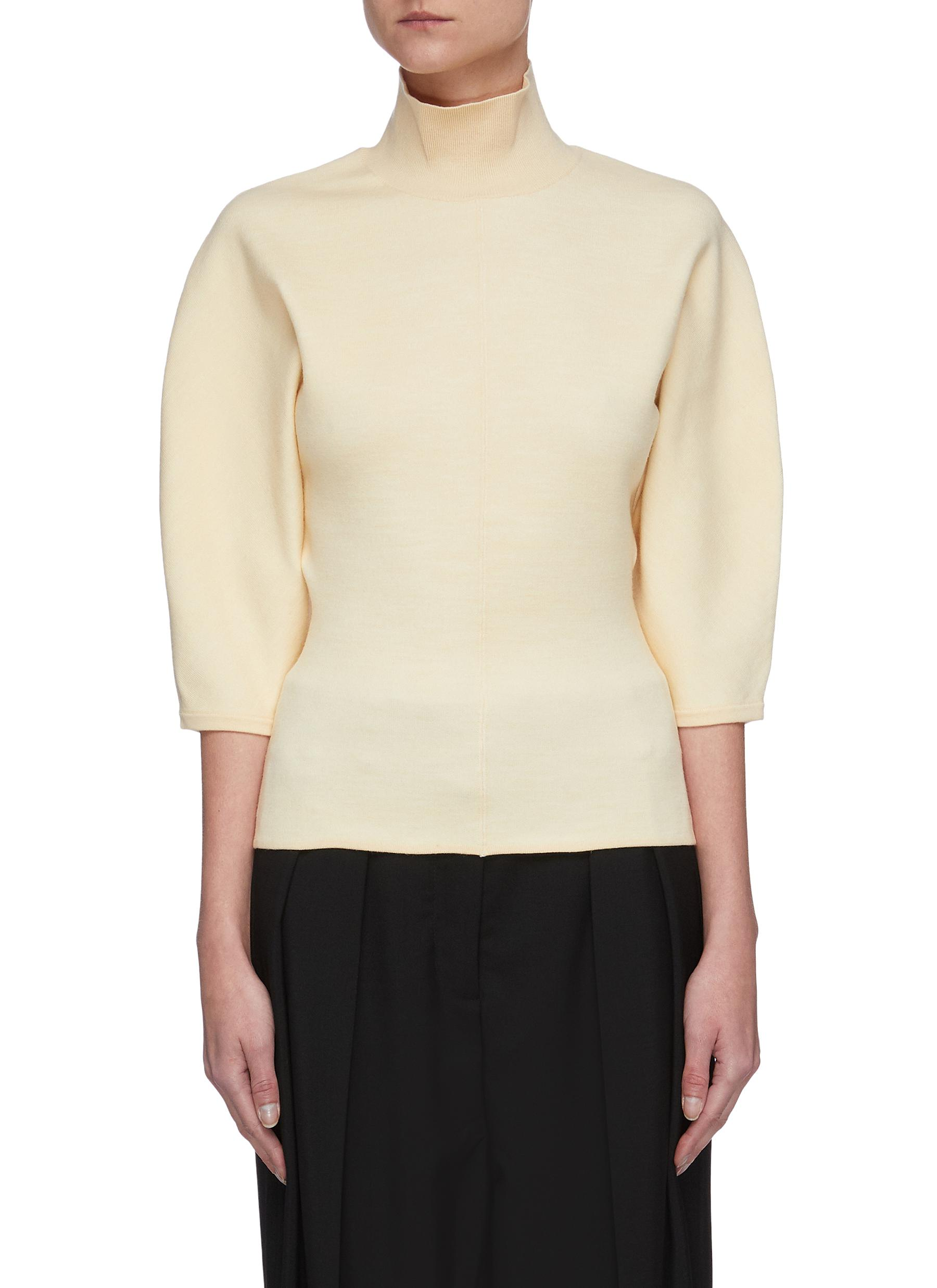 shop Acne Studios High neck blouson sleeves sweater online