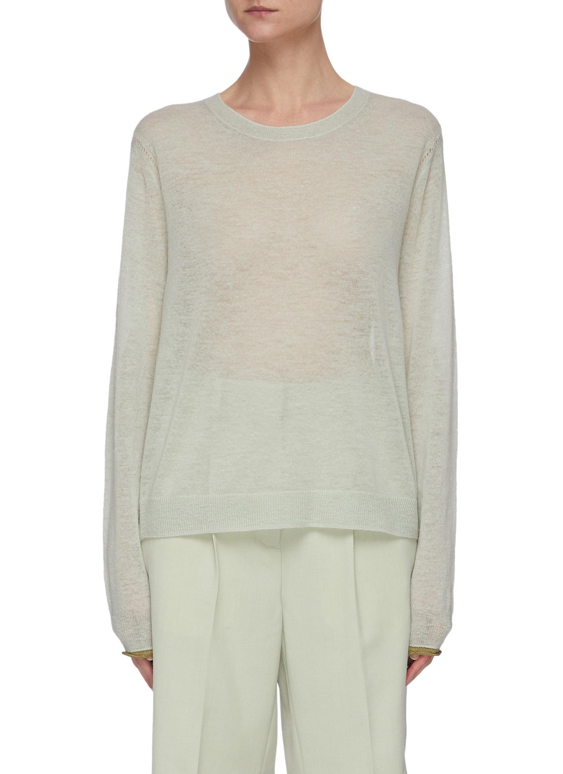 Buy Acne Studios Knitwear Semi-sheer knit T-shirt