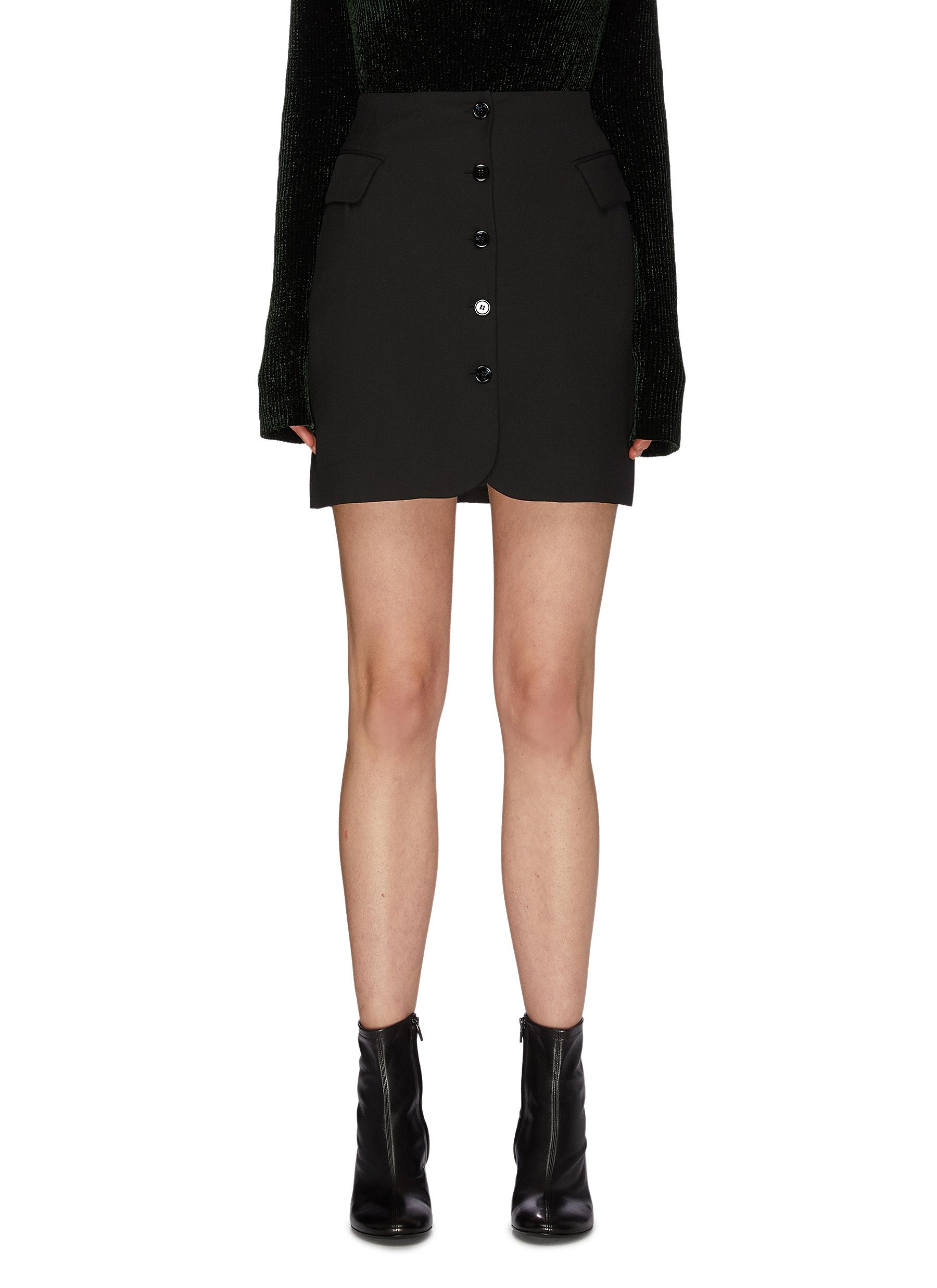 Buy Acne Studios Skirts Deconstructed Blazer Skirt
