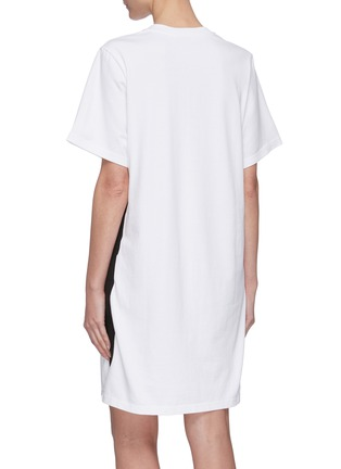 Back View - Click To Enlarge - ACNE STUDIOS - Contrast side tape T-shirt dress