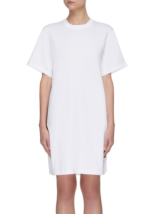 Main View - Click To Enlarge - ACNE STUDIOS - Contrast side tape T-shirt dress
