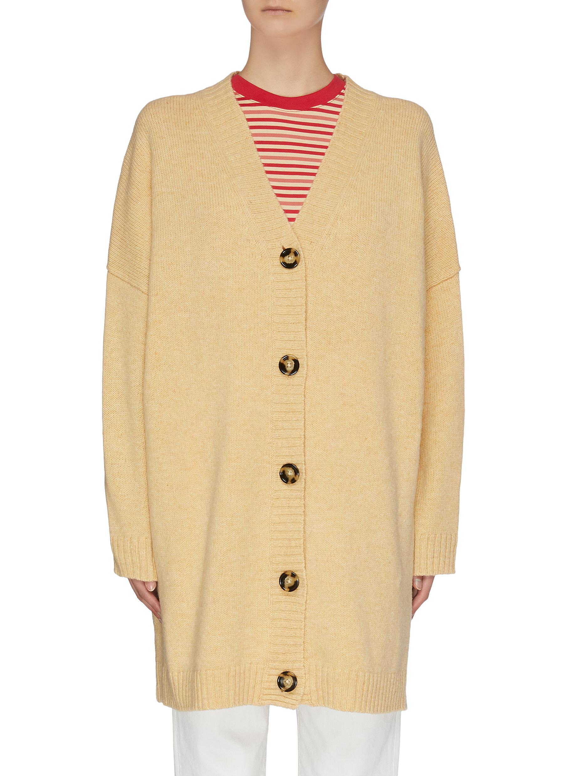 shop Acne Studios Oversized wool knit cardigan online