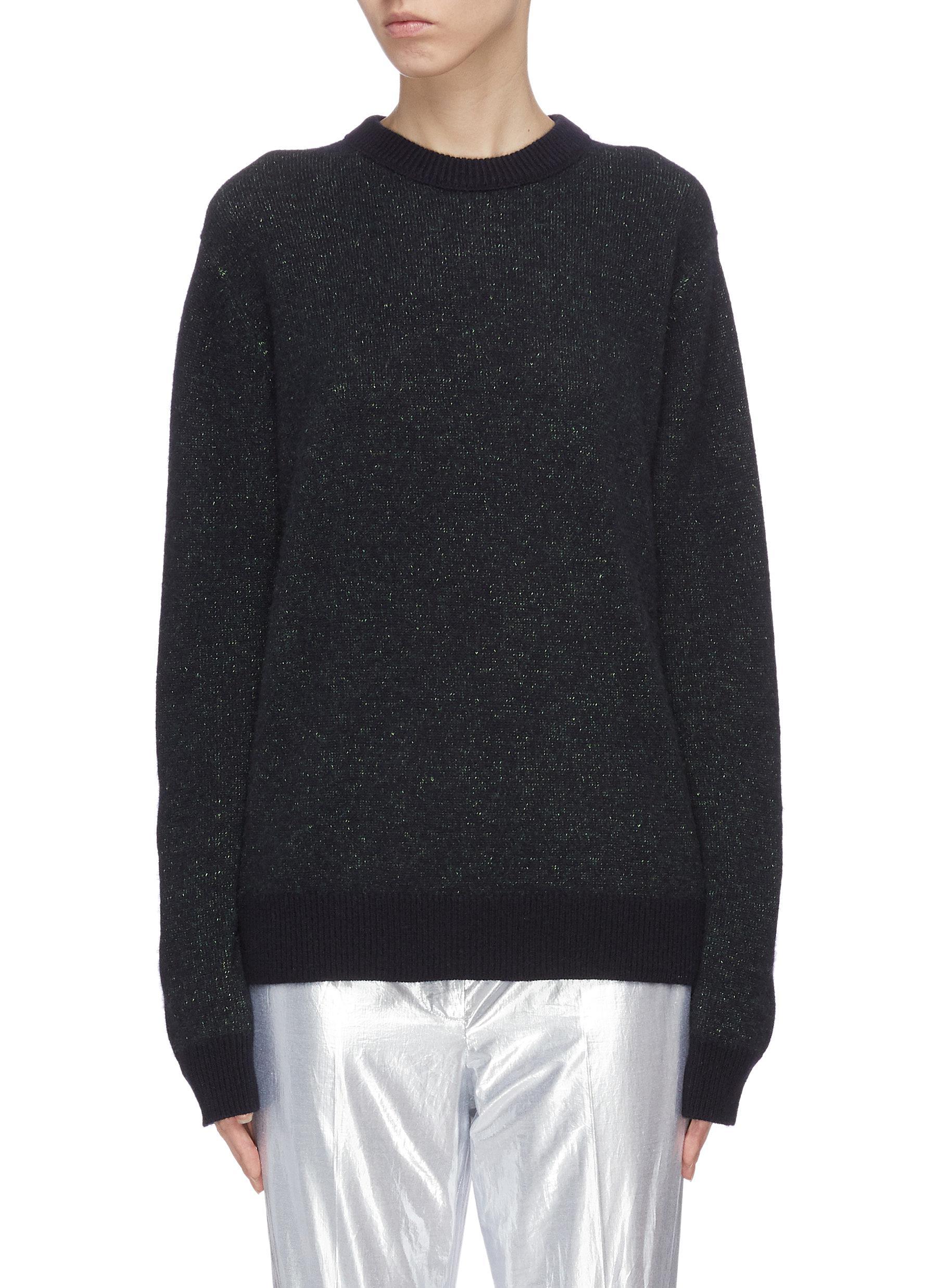 shop Acne Studios Glitter cashmere sweater online