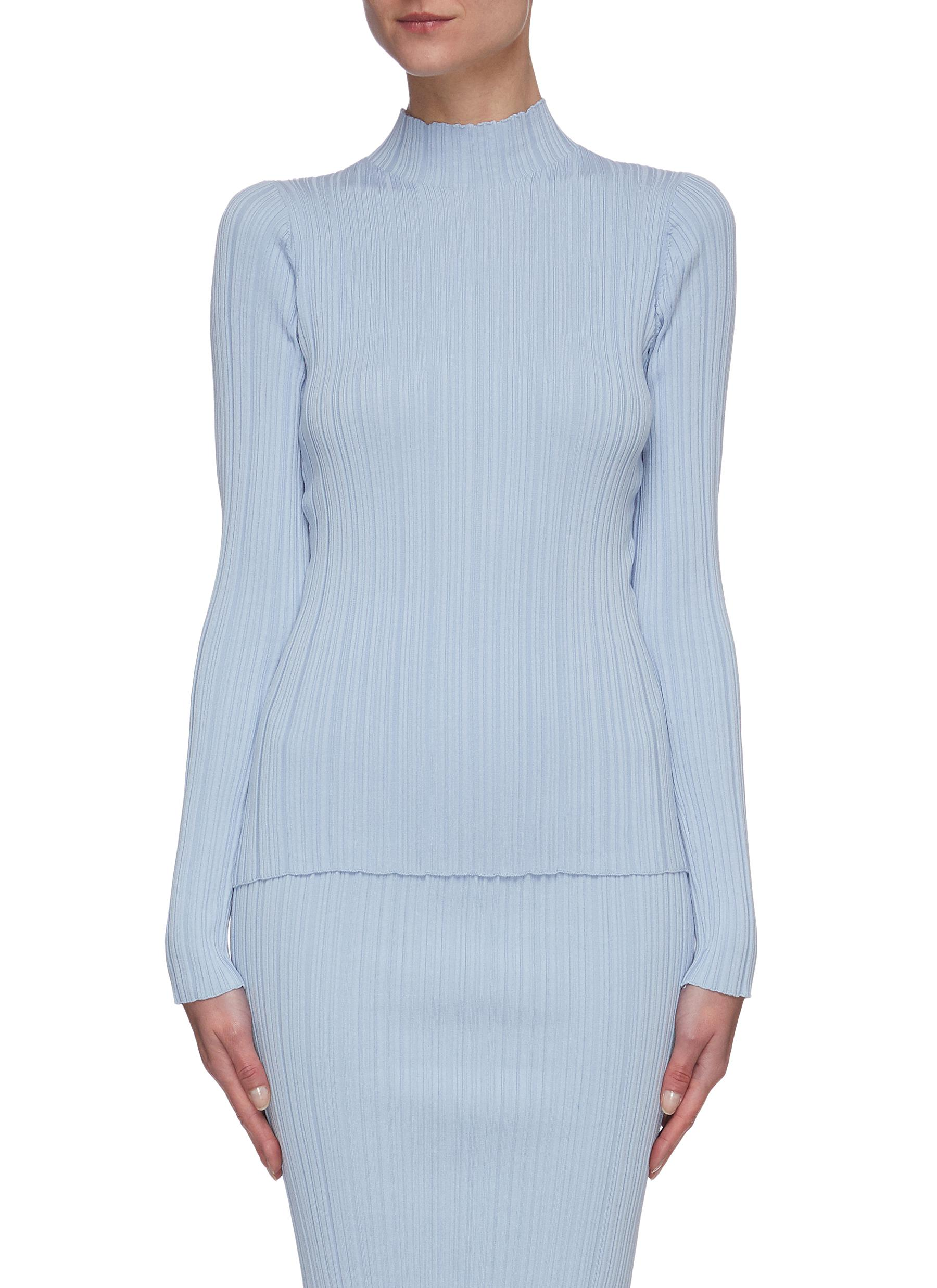 shop Acne Studios Irregular rib mock-neck sweater online