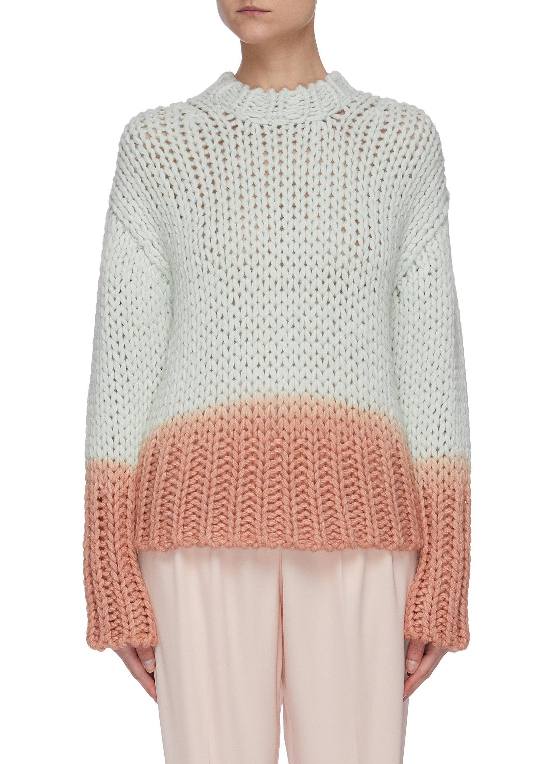 Buy Acne Studios Knitwear Dip dye effect chunky knit sweater