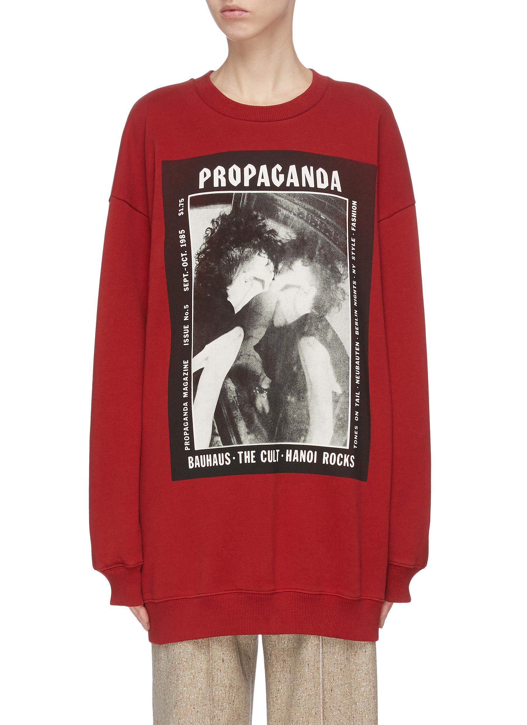 shop Acne Studios Graphic magazine print oversized sweatshirt online