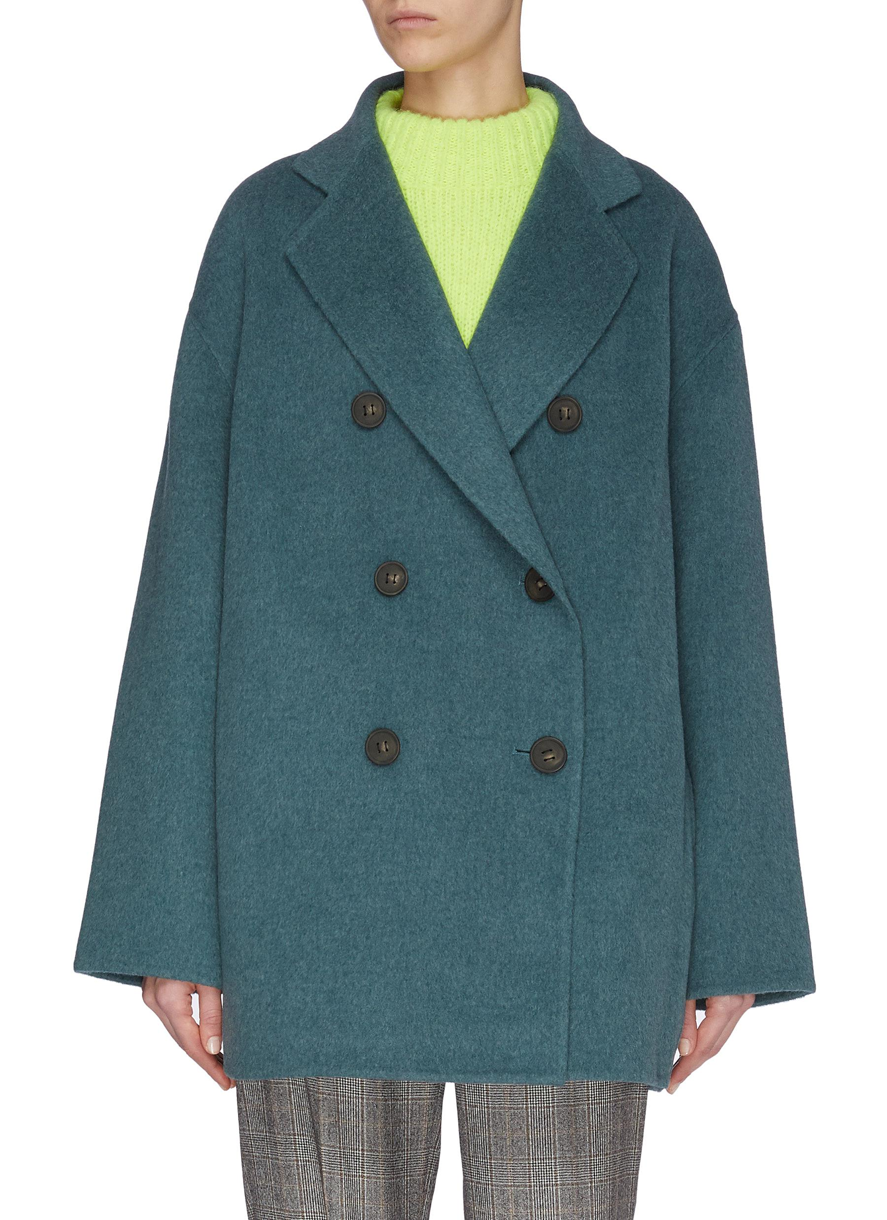 shop Acne Studios Notch lapel double breast wool jacket online