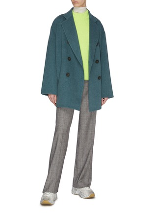 Figure View - Click To Enlarge - ACNE STUDIOS - Notch lapel double breast wool jacket