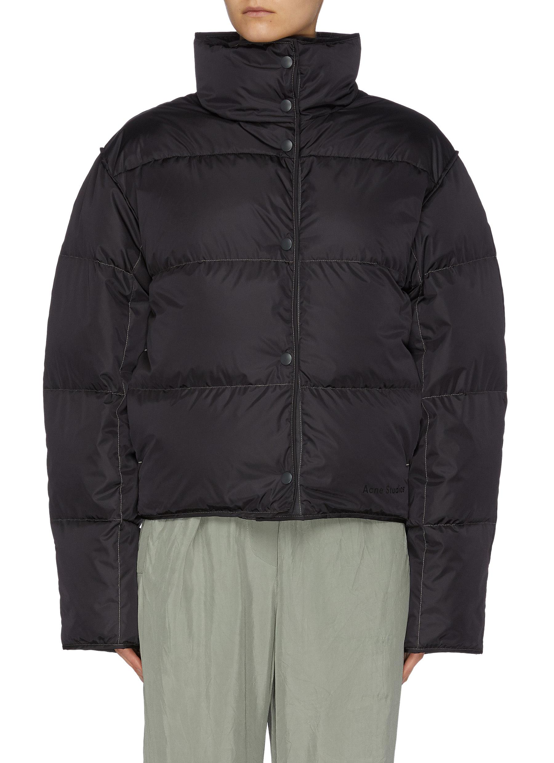 shop Acne Studios Mock Neck Puffer Jacket online