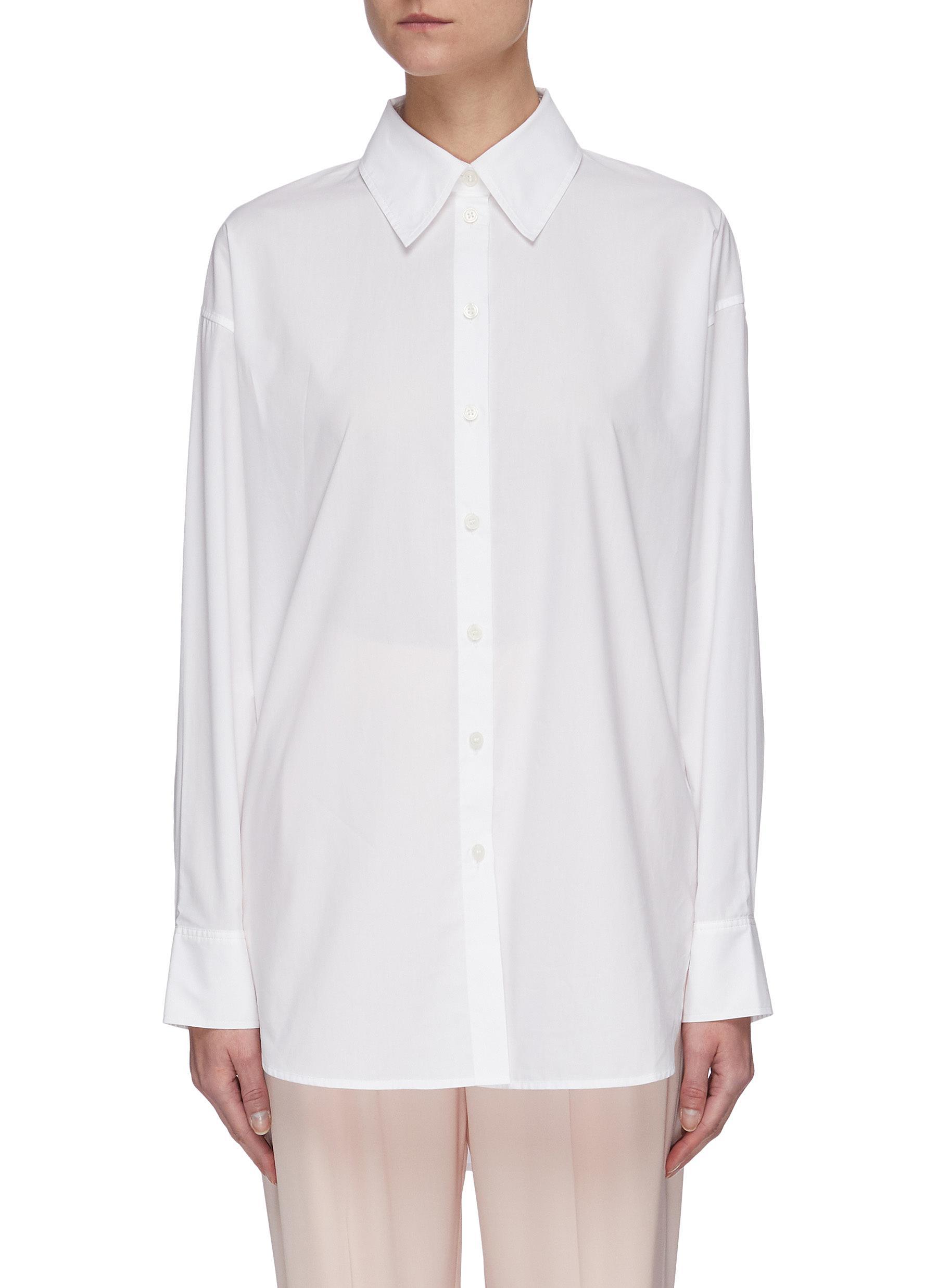Buy Acne Studios Tops Cotton poplin shirt