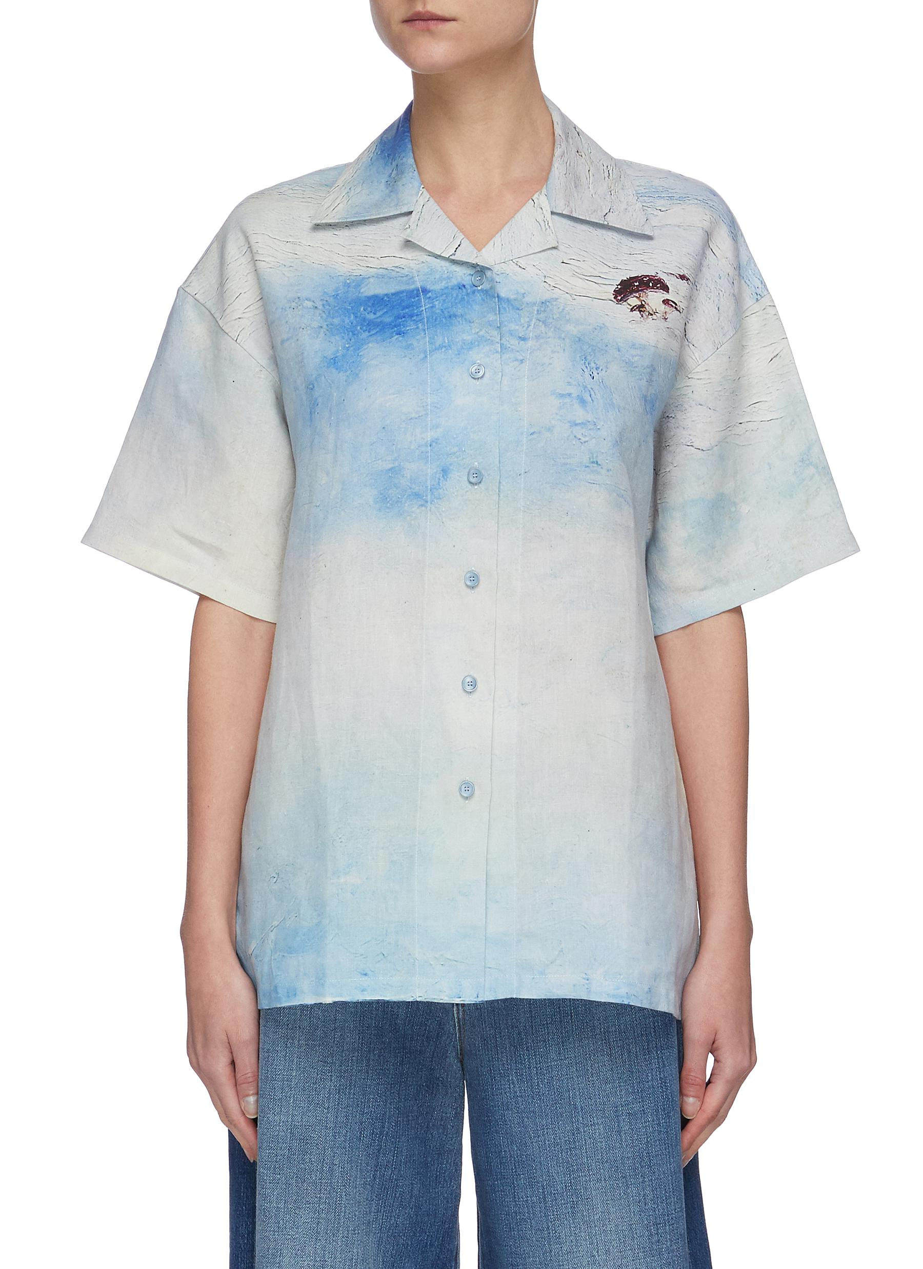 shop Acne Studios Abstract landscape print shirt online
