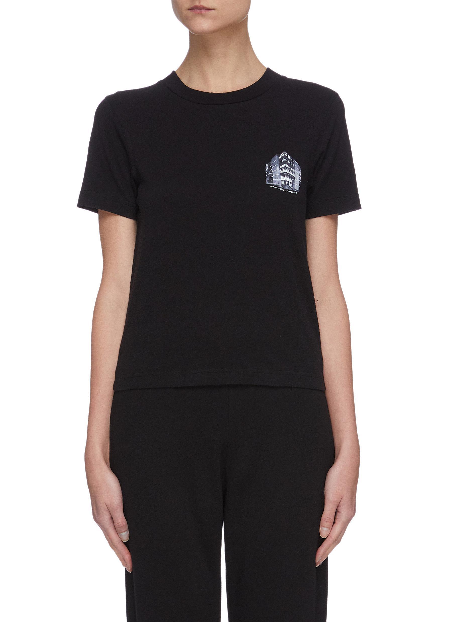 shop Acne Studios Graphic print crop T-shirt online