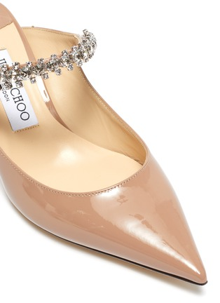 Detail View - Click To Enlarge - JIMMY CHOO - 'Bing 65' crystal strap patent leather pumps