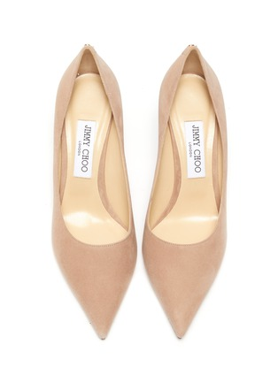 Detail View - Click To Enlarge - JIMMY CHOO - 'Love' suede pumps