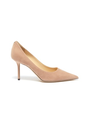 Main View - Click To Enlarge - JIMMY CHOO - 'Love' suede pumps