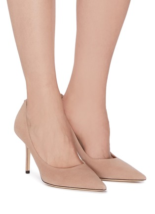 Figure View - Click To Enlarge - JIMMY CHOO - 'Love' suede pumps