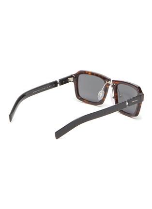 Figure View - Click To Enlarge - PRADA - Tortoiseshell effect acetate frame bold temple square sunglasses