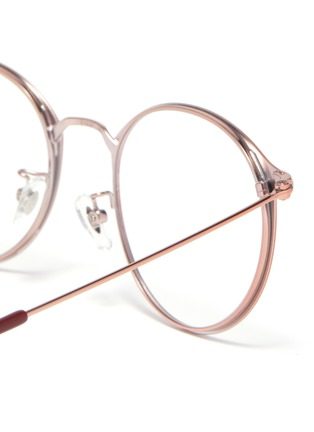 Detail View - Click To Enlarge - RAY-BAN - Metal frame round optical glasses