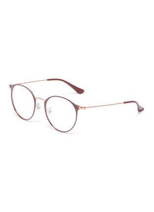 Main View - Click To Enlarge - RAY-BAN - Metal frame round optical glasses