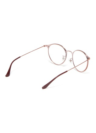 Figure View - Click To Enlarge - RAY-BAN - Metal frame round optical glasses