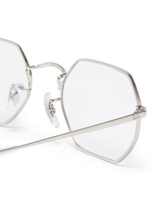 Detail View - Click To Enlarge - RAY-BAN - Metal frame angular optical glasses