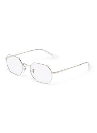 Main View - Click To Enlarge - RAY-BAN - Metal frame angular optical glasses