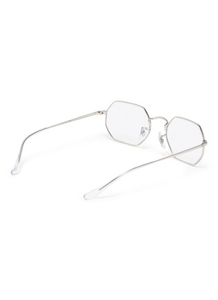 Figure View - Click To Enlarge - RAY-BAN - Metal frame angular optical glasses