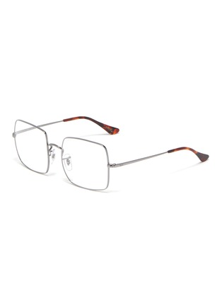 Main View - Click To Enlarge - RAY-BAN - Metal frame square optical glasses