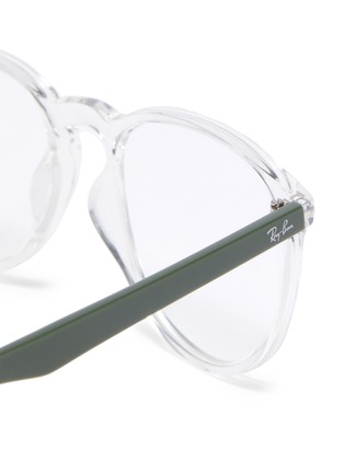 Detail View - Click To Enlarge - RAY-BAN - Transparent 'D' frame optical glasses